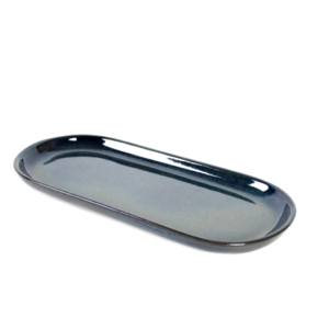 CAVN BLUE Oval Long Small Serving 35x16cm