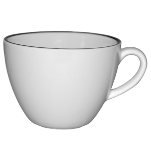 Kaffekopp med svart rand 20cl