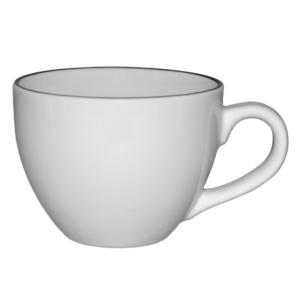 Kaffekopp med svart rand 25cl